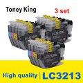 Toney King 3 комплекта LC 3213 XL полностью совместимый картридж для принтера Brother DCP-J772DW DCP-J774DW MFC-J890DW MFC-J895DW