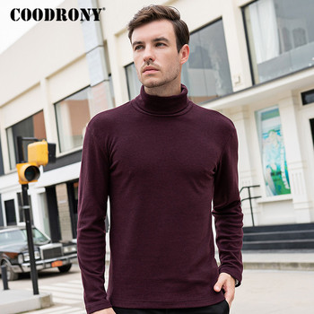 COODRONY Brand T Shirt Men Cotton Tee Homme Spring Autumn Turtleneck Bottoming Male Fashion Casual T-shirt C5002