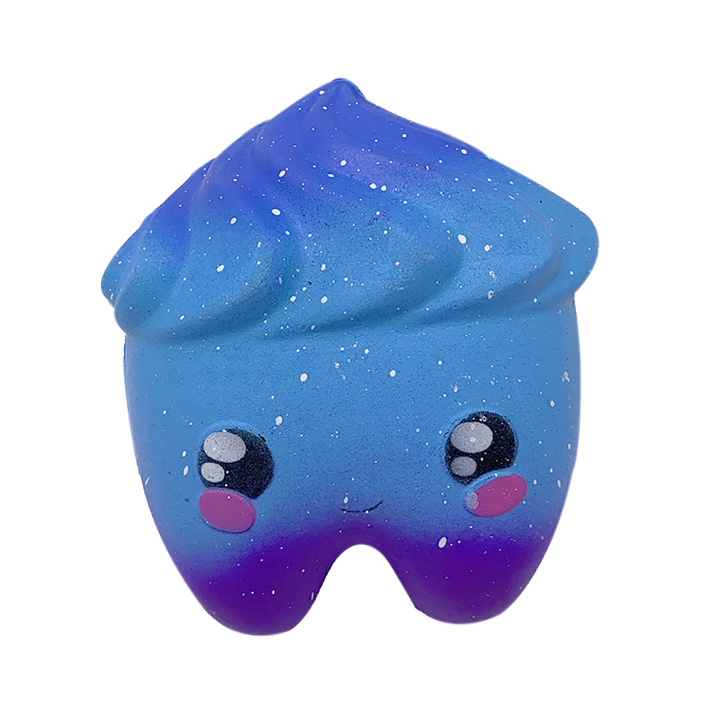 Stary Squishies Tooth Stress Reliever Scented Squeeze Toy Ball Decompression Stress Relief For Children Gifts