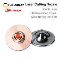 Ultrarayc Laser Düsen Chrom-überzogene Doppel Schichten D28 Kaliber 1,2mm-1,6mm für Schneiden Metall