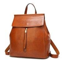 Mochila Escolar Promotion Limited School Bags Leather Backpack Pu Women Retro Female Bag Travel Book Ladies Shoulder Casual A12