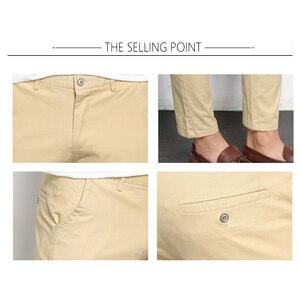Image 5 - BROWON סתיו אופנת גברים מוצק צבע מכנסי קזואל גברים ישר קל אלסטי קרסול אורך רשמית באיכות גבוהה מכנסיים גברים