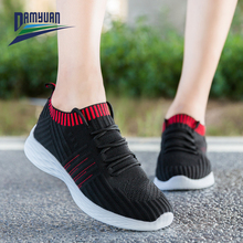 Damyuan Fashion Women Lightweight Sneakers Flat Shoes Slip on Outdoor Sports Shoes Breathable Mesh Comfort Running Shoes damyuan usps flat shoes women running shose womens flats casual lightweight comfortable breathable women sports shoes sneakers