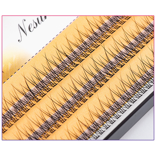 The latest Korean pop fishtail type Fashion dovetail fly eyelash Two long middle short plant grafting false eyelashes wholesale 3