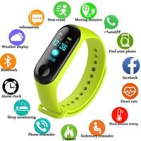 Armbanduhr Fitness M3 Farbe Bildschirm Smart Sport Armband Aktivität Tracker Läuft Herz Rate Für Kinder Männer Frauen Uhr Stunden