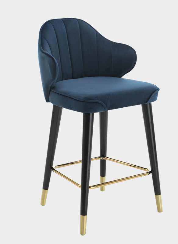 Nordic Light Luxury Solid Wood Bar Stools American Country High  Personality Modern   Italian  Chairs