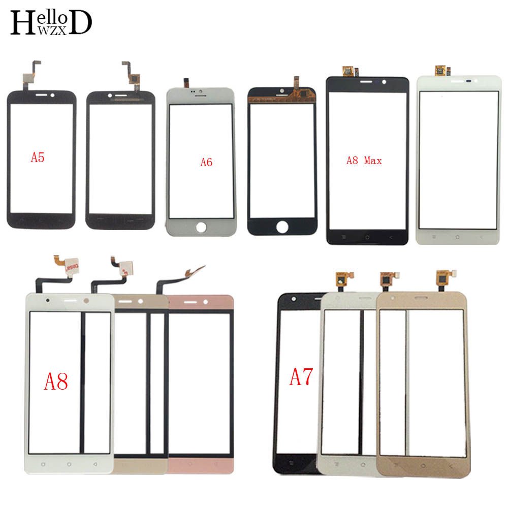 Touch Screen Panel For BlackView A5 A6 A7 A8 A8 Max Digitizer Panel Front Glass Touch Screen TouchScreen Sensor 3M Glue Wipes