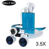 3.5X Medical Dental Loupes LED Magnifying Glasses with LED Head Light Lamp 420mm Dental Equipment Surgical Dentists Magnifier