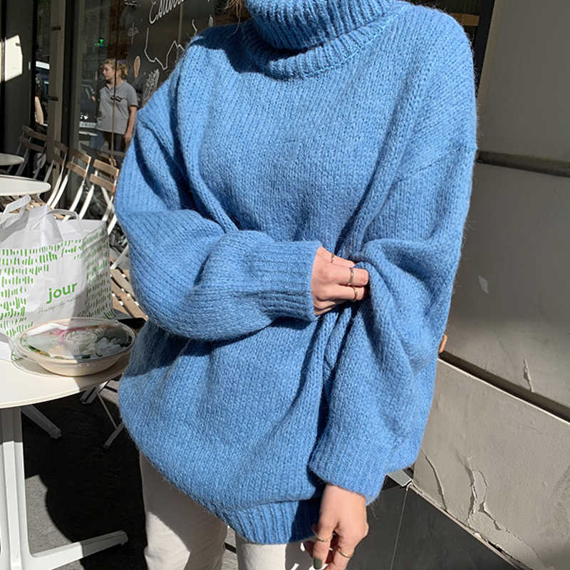 Flectit Chunky Turtleneck Sweater Grey Black Light Blue Solid Plus Size Long Pullovers Knit Top Fall Winter Outfits Aliexpress