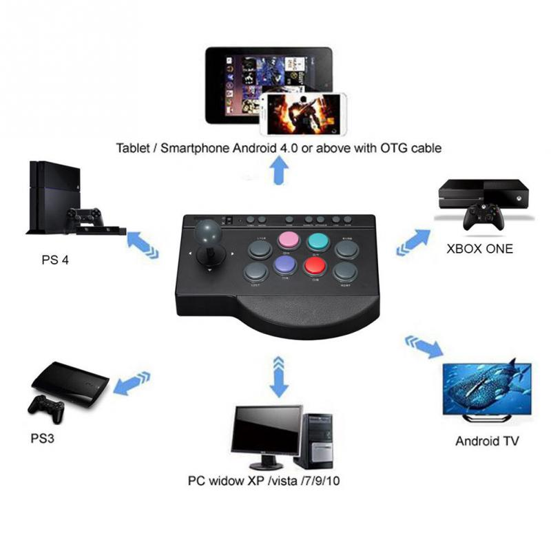 cheapest NEW PXN 0082 USB Wired Game Controller    one PC For Arcade Fighting Joystick Stick Joystick Gaming Controller