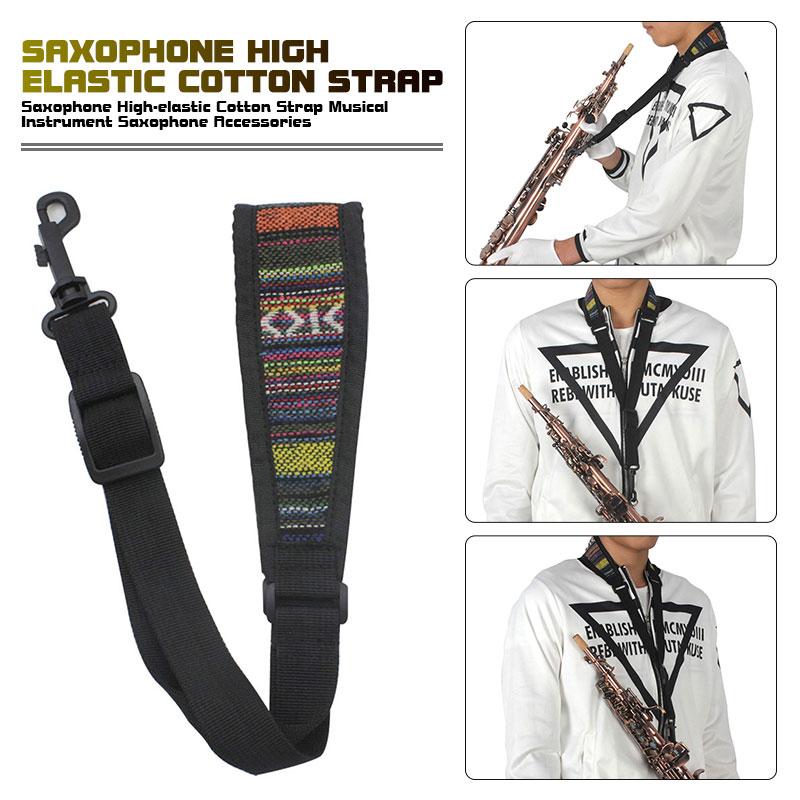 Stylish Padded Cloth Saxophone Straps Neck Strap Sachs Strap Padding Saxophone Strap Musical Instruments Accessories Adjustable