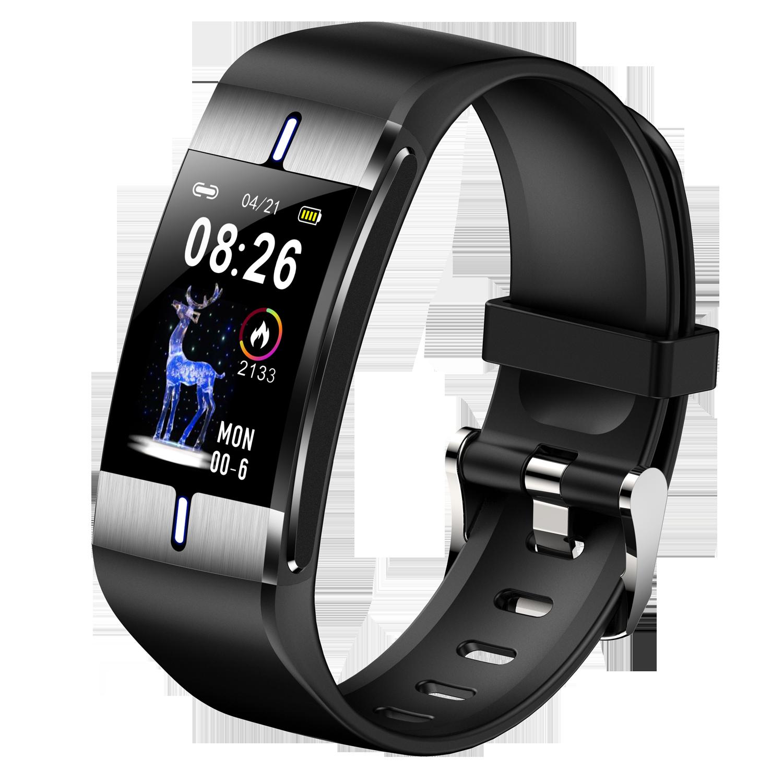 Monitor de Pressão Pulseira de Fitness para Android Relógio Inteligente Corpo Gordura Freqüência Cardíaca Arterial Tempo Esporte Ios pk p3 P11 Bm08