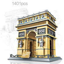 Wange5223 1041pcs The Triumpnal Arch of Paris Building Model DIY Educational Model Building Blocks Toys For Children Kids Gift 1pc the hobbits lord of the rings knight diy figures assemble model diy building blocks sets kids educational toys gift xmas