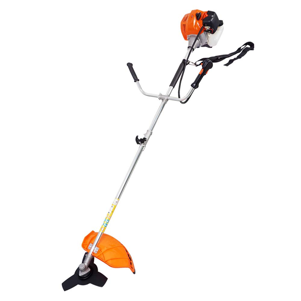 2-Cycle Gas Powered String Trimmer Straight Shaft Weed Eater With Line, Brush Cutter Edger Blade