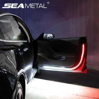 цена на Universal LED Car Opening Door Warning Light Anti-collision Signal Lamp Magnetic Sensor Safety Flash Alarm Lights Parking Lamp