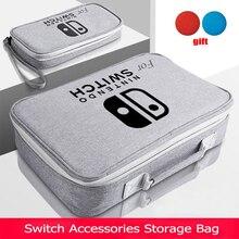 Bolsa de almacenamiento S/M/L para Nintendo Switch, accesorios para consola de juegos, bolso de viaje para funda protectora de NS, película de vidrio, Juegos 3 en 1