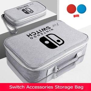 Image 1 - S/M/L 스위치 스토리지 가방 닌텐도 스위치 게임 콘솔 액세서리 여행 핸드백 NS 보호 케이스 유리 필름 3in1 세트