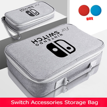 S/M/L Switch Storage Bag For Nintendo Switch Game Console Accessories Travel Handbag For NS Protective Case Glass Film 3in1 Sets