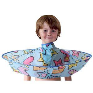 Apron Cloak Cape Umbrella Hairdressing-Clothes Hair-Cutting Kids Children Gown Boy