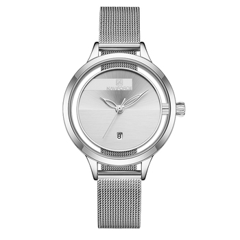 New NAVIFORCE Creative Simple Quartz Watch Women's Steel Mesh Dress Watches Girl Clock Ladies Bracelet Watch Relogios Feminino 9