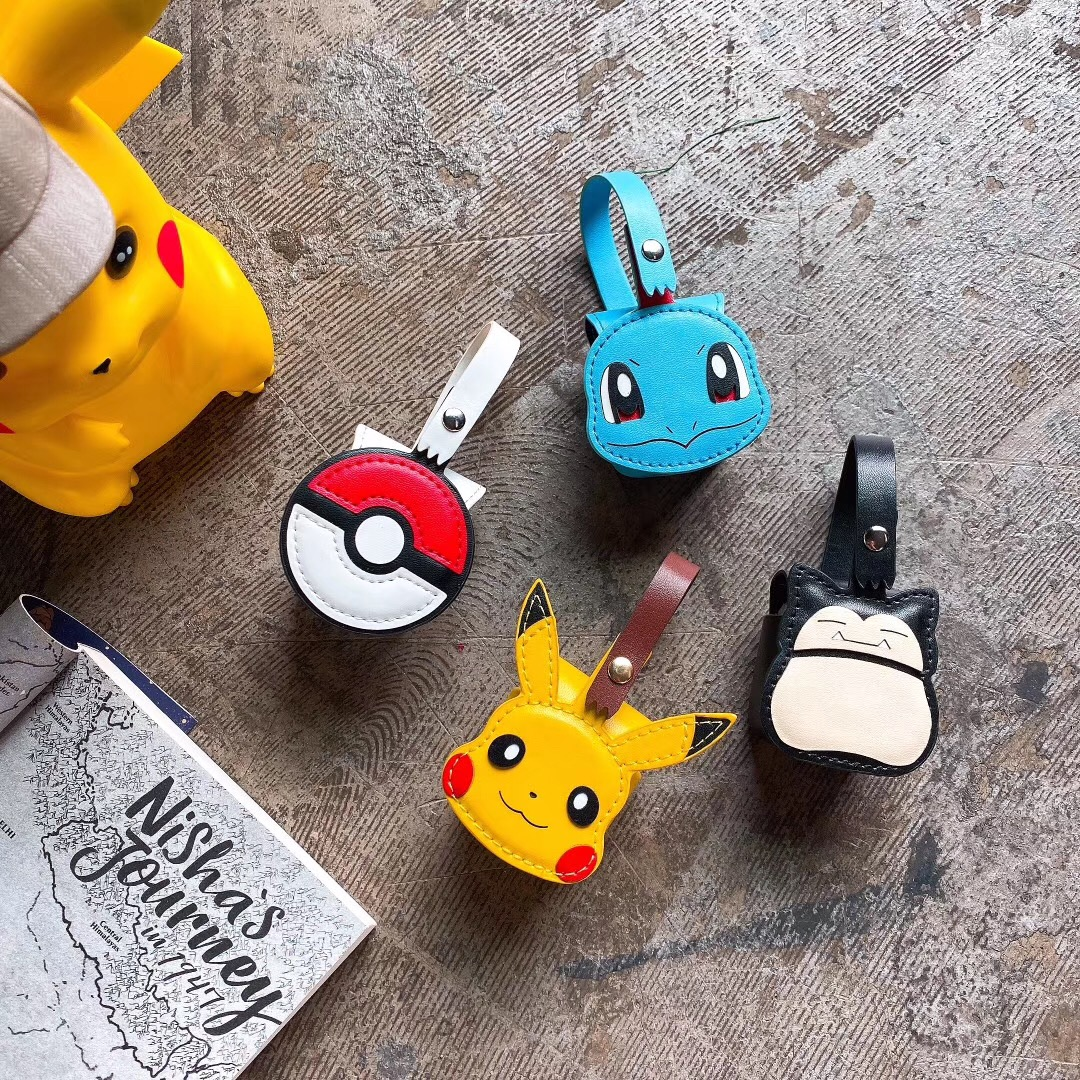 Luxury For Apple AirPods1 Silicone Headphones <font><b>Cases</b></font> For Airpods2 Protective Cover Pokemon <font><b>Pikachu</b></font> Small Bag <font><b>Case</b></font> Wholesale image