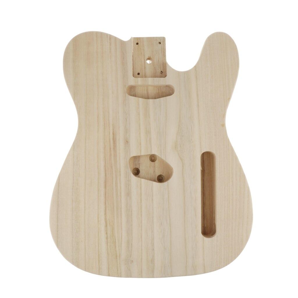 Corps de guitare électrique inachevé corps de guitare blanc baril bricolage pièces accessoires pour les amateurs de guitare débutants ou apprenants