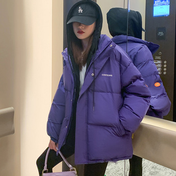 2021 Winter Women Oversized Parkas Coat Fashion Solid Thick Warm Hooded padded Coat Casual Winter Outwear Jacket parkas 1