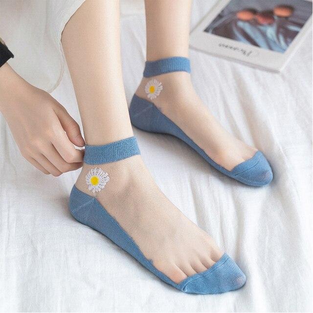 Ladies Casual Transparent Socks