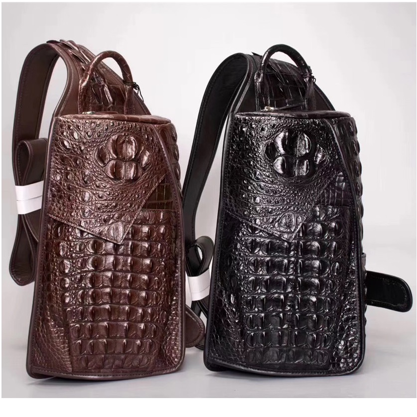 Chic Style Authentic Crocodile Leather Men's Small Casual Chest Messenger Bag Exotic Real Alligator Skin Male Cross Shouler Bag
