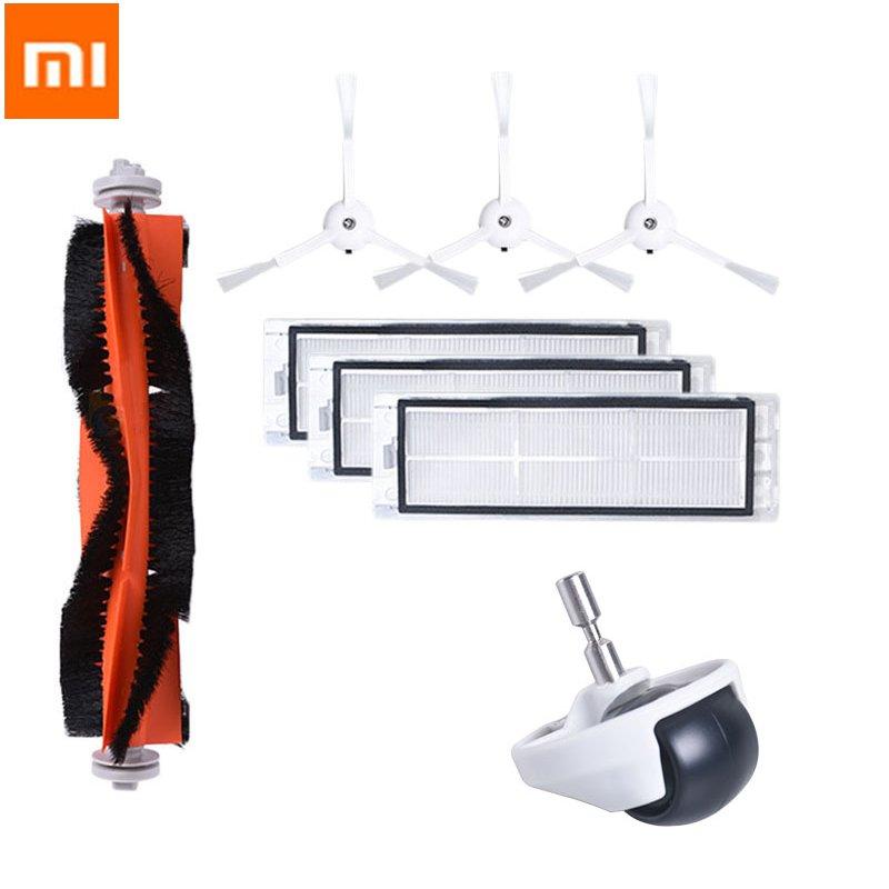 8PCS Xiaomi Roborock Robot Vacuum Cleaner Acces Side Brush Roller Brush HEPA Filter Caster Wheel Vacuum Cleaner Parts
