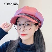 Octagonal Cap Beret Winter Women Fashion Autumn S-Maqiao Visor Artist-Hat Retro New
