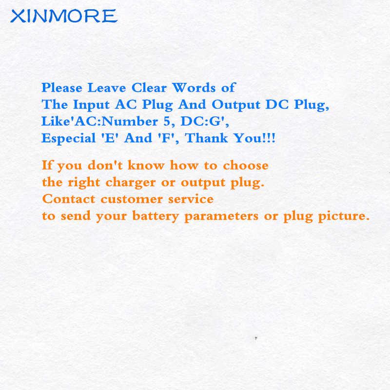 Xinmore 42V 5A 4A Lithium Battery Charger Cargador De Benacazon Recargables Smart Charger Ebike untuk 36V E-sepeda Li-ion