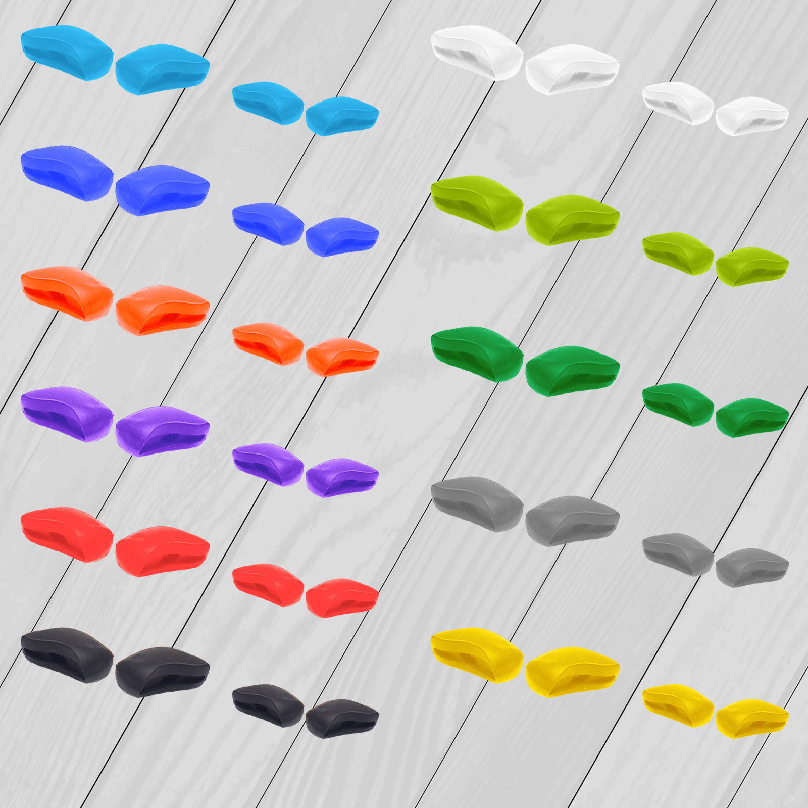 E.O.S Silicon Rubber Replacement Nose Pads For OAKLEY Fast Jacket OO9097 / Fast Jacket XL OO9156 Frame Multi-Options