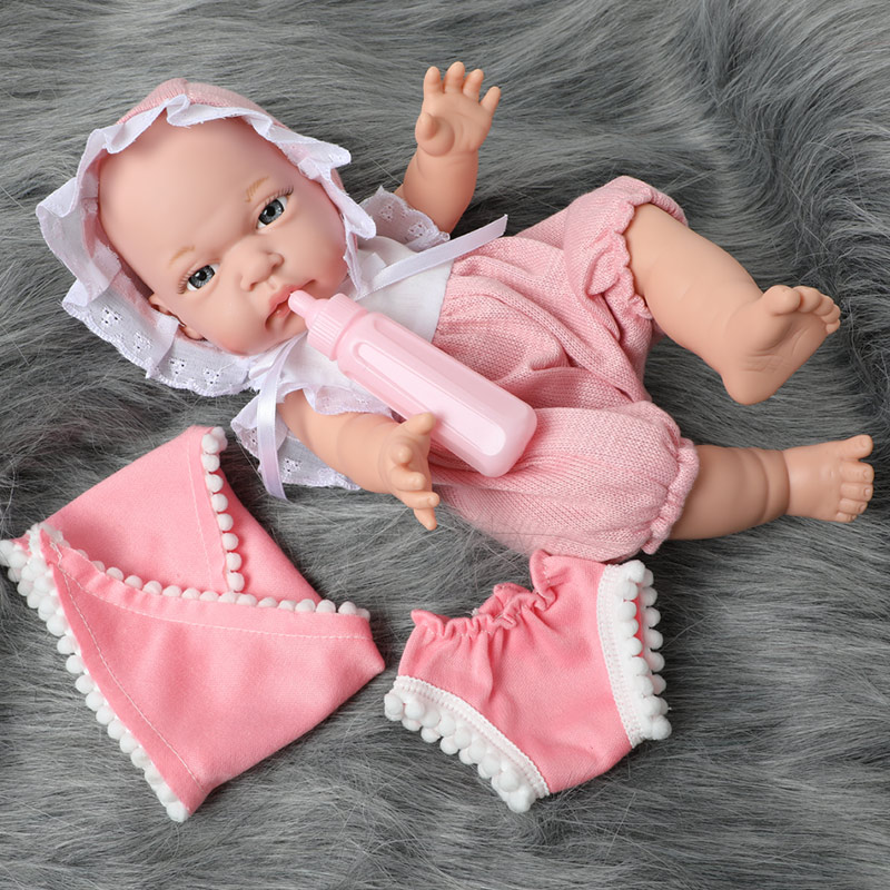 12 Inch Bebe Reborn Doll Full Body Silicone Waterproof Drop-resistant 30.5cm Realistic Newborn Baby Milk Bottle For Toys Kids