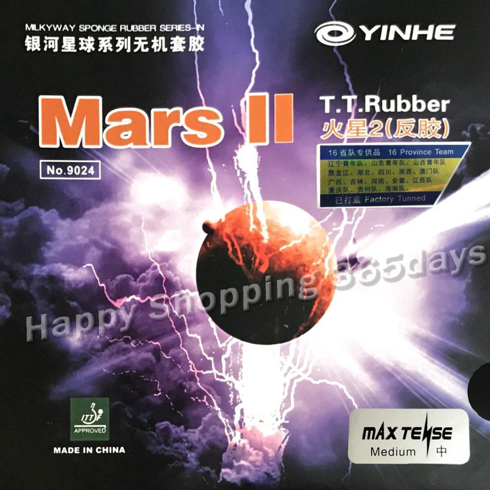 Yinhe Milky Way Galaxy Mars II fábrica afinada pips-en tenis de mesa Goma de Pingpong con esponja 2,2mm YINHE Qing Pips largo de goma/OX Topsheet Galaxy tenis de mesa de goma de ping pong esponja