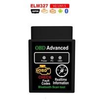 OBD2 Super MINI hhobd ELM327 Bluetooth V2.1V1.5 OBD2 Car Diagnostic Tool  Auto Scanner ELM327 OBD Code Reader For Android Torque ancel obd2 v1 5 elm327 v1 5 pic18f25k80 elm327 usb obd 2 scanner automotive car diagnostic tool scanner for car odb2 elm327 1 5