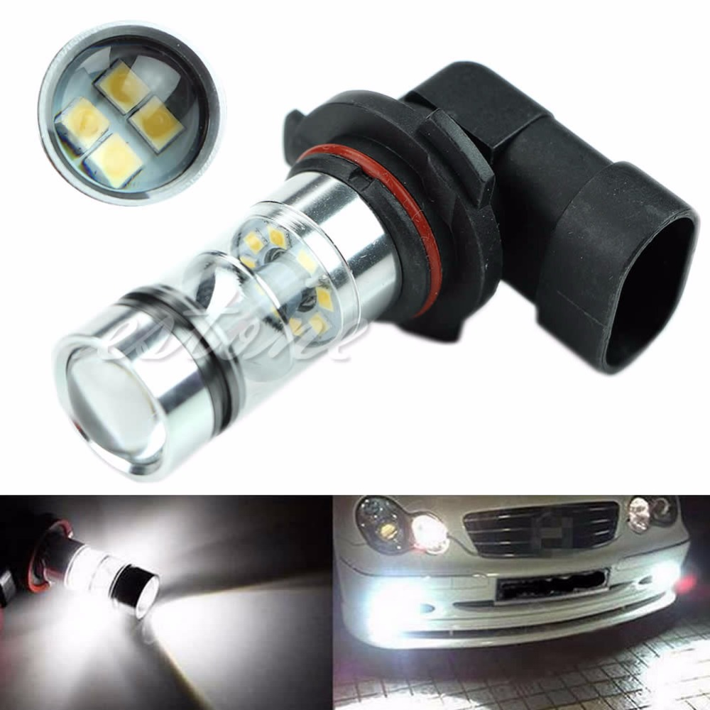 1PC 9005 HB3 6000K 100W LED Projector Fog Driving Light Bulb HID White