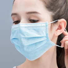 Máscara protetora descartável do cuidado do nariz da boca do anti poeira da máscara do anti vírus do pacote individual de 10 pces limpa a máscara macia para o adulto