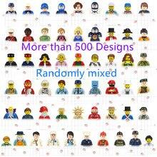 Cute Figure Block Toys Multi Cartoon Characters City Careers Girl Engineers Block Figure Children DIY Educational Gifts Toys