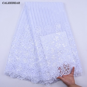 2020 Sequin Lace Fabric Mesh African Embroidery Sequins Nigerian French lace Latest High Quality Tulle Hot Sale