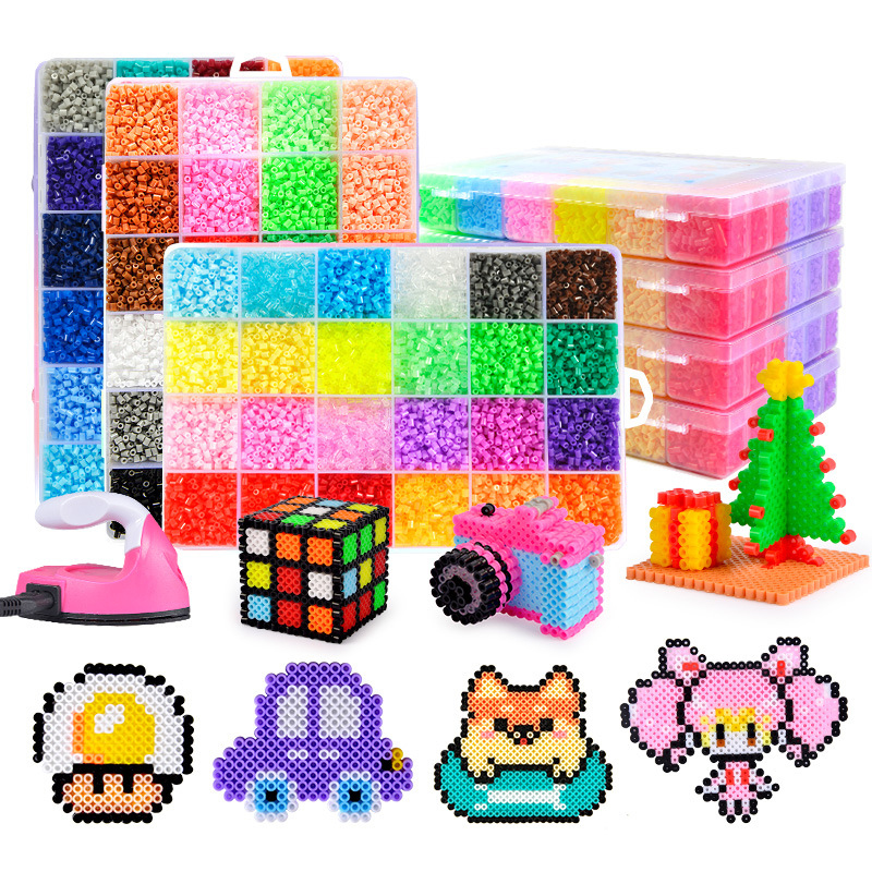 24 / 72 Colors 5mm hama Beads/ Iron Beads diy Puzzles 2.6mm Education Beads 100% Quality Guarantee perler Fuse beads diy toy(China)