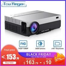 Touyinger T26L T26K 1080p LED full HD projektör Video beamer 5800 lümen FHD 3D ev sineması HDMI ( Android 9.0 wifi  isteğe bağlı)