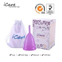 ICare gran oferta copa Menstrual de silicona de grado médico para mujer higiene femenina menstruación reutilizable copa de señora copa menstrual