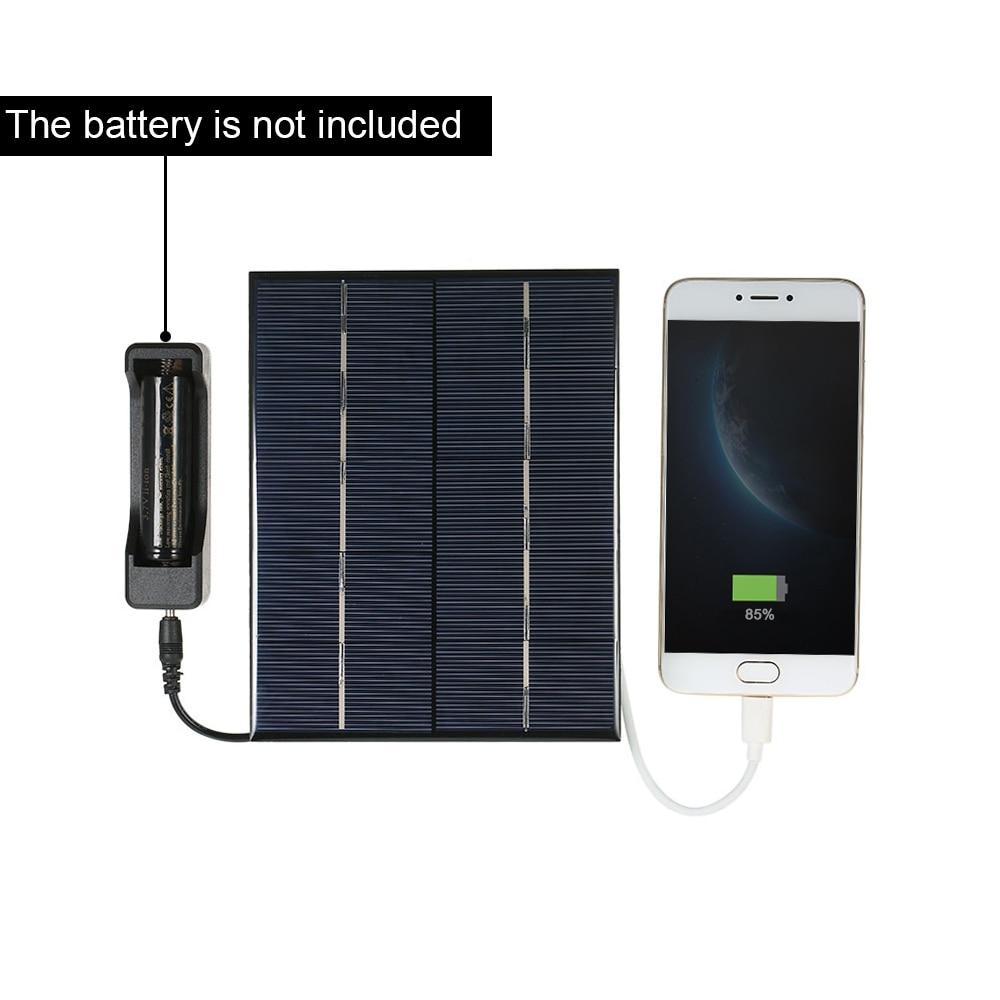 Поликристаллический кремний Панели солнечные панели солнечных батарей для Мощность Зарядное устройство USB Порты и разъёмы 18650 Батарея зарядки 3,5 W 5V