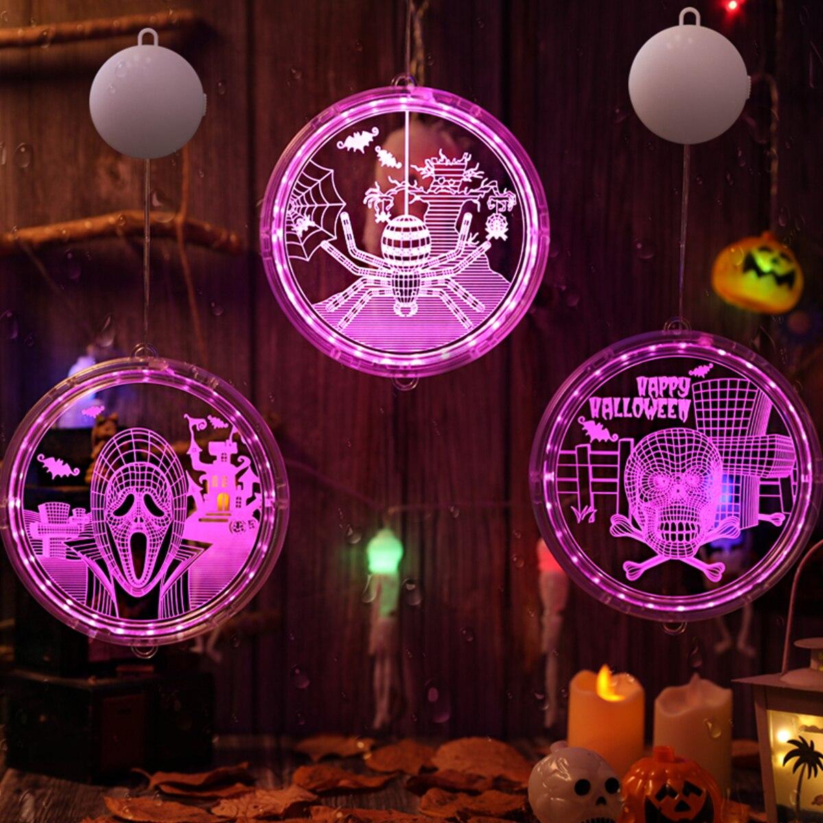 Huiran Skull Pumpkin Spider Halloween Led Light Halloween Decoration Lights For Room Decoration Horror Hallowen Party Supplies Holiday Lighting Aliexpress