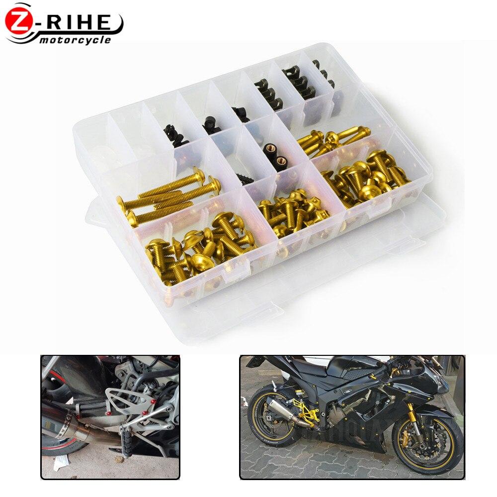 Acessórios da motocicleta carenagem parafuso fixador fixação para davidson softail kawasaki z750 sportster dyna yamaha r3 r1