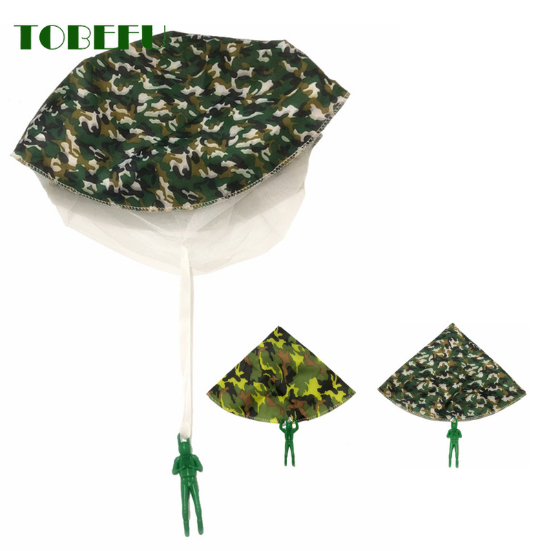 TOBEFU Hand Throwing Mini Play Soldier Parachute Toys For Kids Outdoor Fun Sports Children's Educational Parachute Game