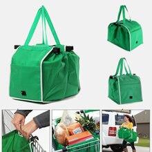 Экологически чистая Складная многоразовая сумка магазина супермаркета