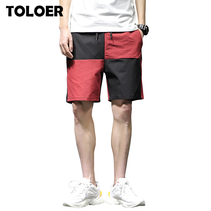 New Casual Shorts Men Brand Elastic Waist Summer Beach Cotton Linen Bermuda Knee Length Fashion Breathable Shorts Quick Dry Male