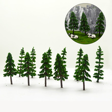 3050100pcs 72cm ABS Plastic Model Green Trees Toy Scale Miniature Color Tasson Plants For Diorama Forest Scene Layout Kits